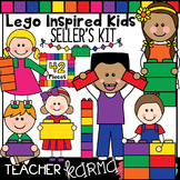 Lego Inspired Kids Clipart, Seller's Kit