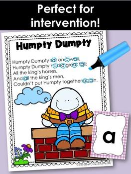 Letter Identification Nursery Rhymes * Rhyming * Phonics * Reading Intervention