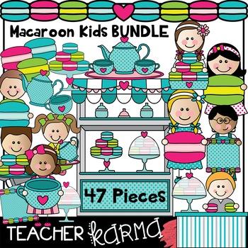 Macaroon Shop KIDS * Clipart BUNDLE