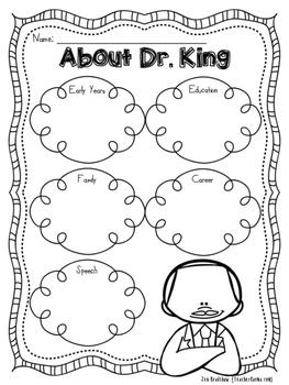 Martin Luther King, Jr. Printables ~ MLK ~ Reading ~ Black History