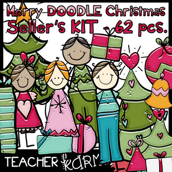 Merry DOODLE Christmas * Seller's KIT * 62 pcs.