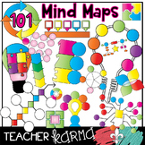 Mind Maps * 101 Graphic Organizers * Mapping Clipart BUNDLE