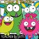 NEON Monsters Clipart BUNDLE &  Seller's Kit