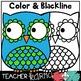 Owls - NEON Clipart BUNDLE * Seller's Kit