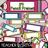 Pencil & Colored Pencil FRAMES!  ** Ombre & Polka Dots **