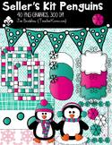 Penguins Seller's Kit Clipart ~ Commercial Use OK ~ Winter