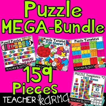 Puzzle MEGA-BUNDLE Templates - 159 Graphics
