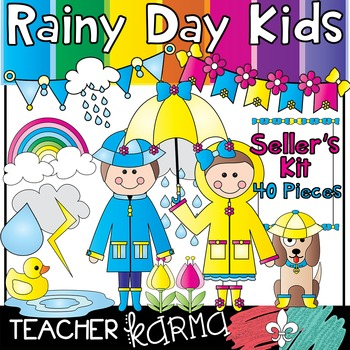 Rainy Day Kids * Seller's Kit * Spring & Summer