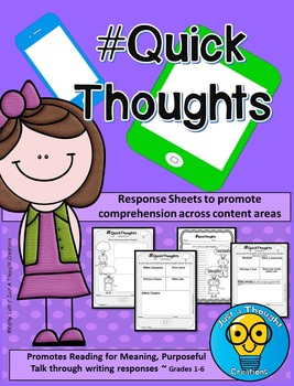 Student Response Sheets - COMPREHENSION- #QuickThoughts