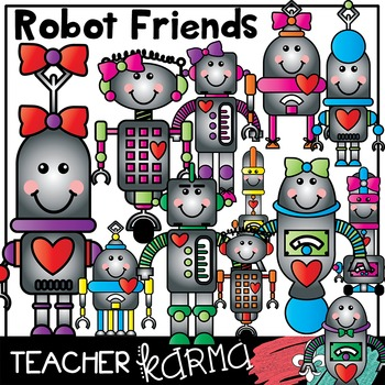 Robot Friends * Happy Clipart