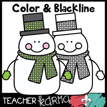 Snowman Buddies Clipart