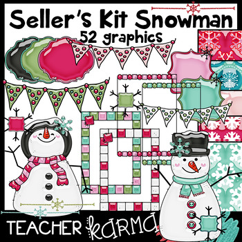 Snowman Seller's Kit * Bright & Shiny Style!