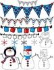 Snowman Seller's Kit Clipart ~ Commercial Use OK ~ Winter