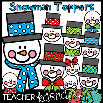 Snowman Toppers - Winter Clipart