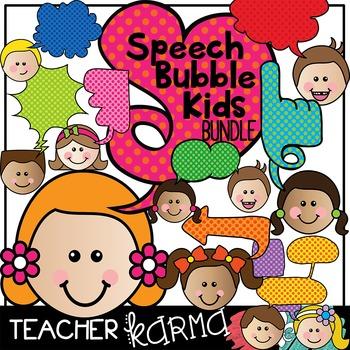 Speech Bubble Kids BUNDLE * Unique Shapes