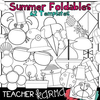 Summer Foldables, Interactives & Flip Book TEMPLATES
