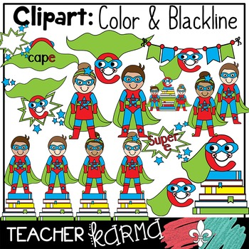 Super Silent e BUNDLE * cvce * Reading Super Hero
