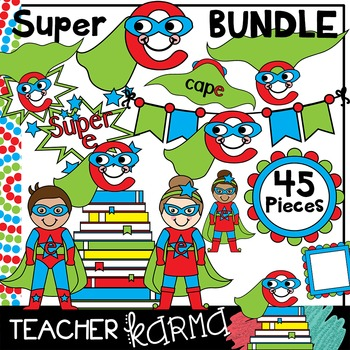 Super Silent e BUNDLE * cvce * Reading Super Hero