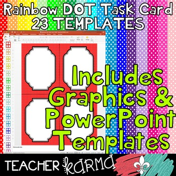 Task Card Temples * RAINBOW DOT * Includes PowerPoint File