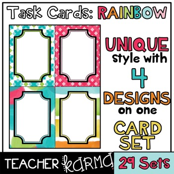 Task Card Templates * UNIQUE DESIGN * 4 Styles