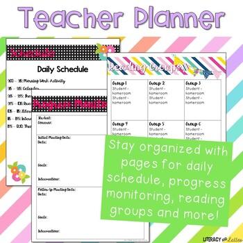 Teacher Plan Book and Calendar - Fully Editable!