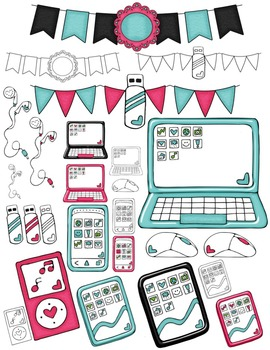 Technology Seller's Kit Clipart ~ Commercial Use OK ~ Tablets