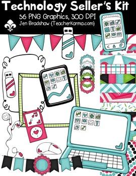 Technology Seller's Kit Clipart ~ Commercial Use OK ~ Tablets