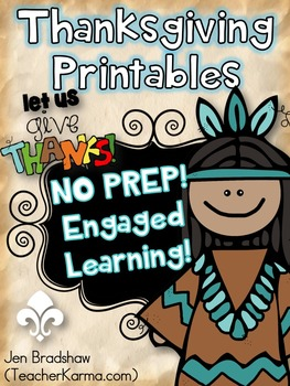 Thanksgiving Printables ~ NO PREP!  Reading Comprehension
