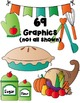 Christmas Turkey Cooking Clipart ~ Commercial Use OK