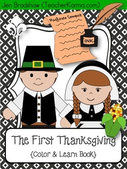 The First Thanksgiving Color & Learn Book ~ Social Studies