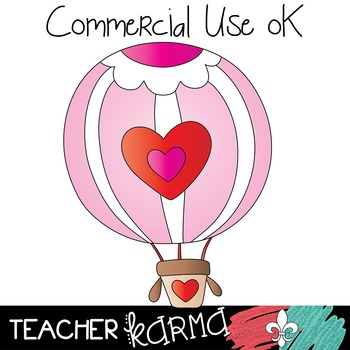 Valentine's Day Cat Clipart ~ Hearts ~ Commercial OK