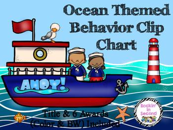 Setting Sail Ocean Theme Behavior Clip Chart