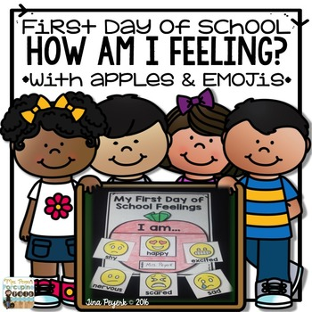 First Day of School Feelings with Apples and Emojis