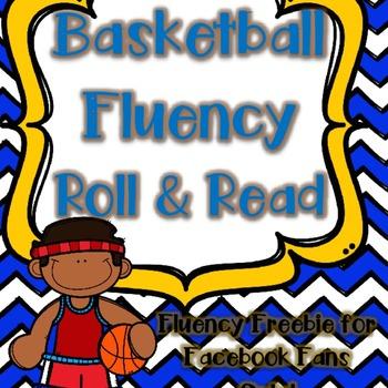 {5000 Facebook Follower FREEBIE} Basketball Fluency Roll & Read Level One