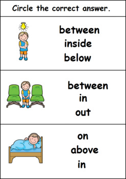 Prepositions- Circle the Right Answer