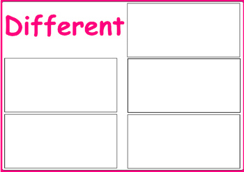 Same and Different -Pencils for Special Education