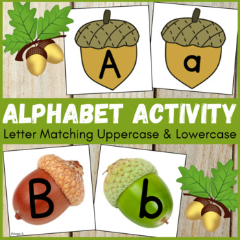 Letter Matching Uppercase and Lowercase - Acorns