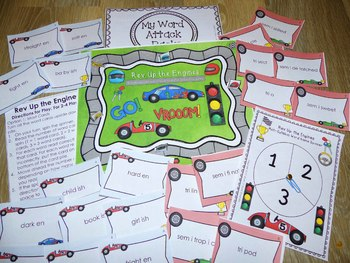 Rev Up the Engines-Multisyllabic Prefix & Suffix Word Fluency Game