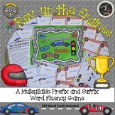 Rev Up the Engines-Multisyllabic Game Prefix and Suffix Word Fluency