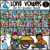 Long Vowel Word Teams Clip Art Bundle - Chirp Graphics