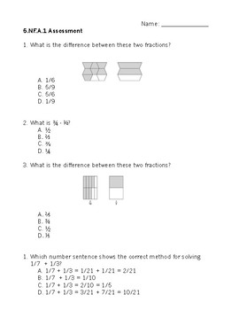 5NF Math Assessment Bundle - Common Core Aligned
