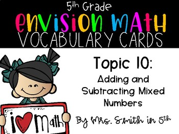 (5th Grade) Envision Math Vocabulary Posters: Topic 10
