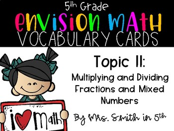 (5th Grade) Envision Math Vocabulary Posters: Topic 11