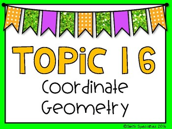 (5th Grade) Envision Math Vocabulary Posters: Topic 16