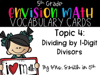 (5th Grade) Envision Math Vocabulary Posters: Topic 4