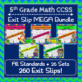 5th Grade Math Exit Slips, 5th Grade Math Exit Tickets, 5th Grade MEGA Bundle