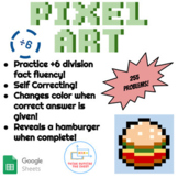 ÷6 Division Pixel Art! Digital Practice for Math Facts with Secret Reveal!