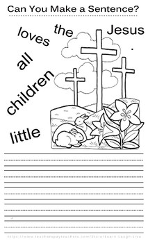 Printing Practice Worksheet / Make a Sentence / Coloring Fun! 30-40 MINUTES