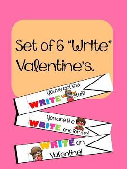 "(6) ""write"" pendant Valentines"