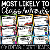 ***60 END-OF-YEAR CLASS AWARDS MOST LIKELY TO CERTIFICATES